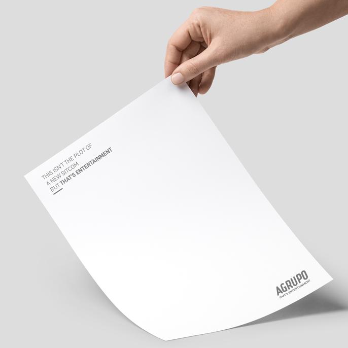 Aplicación de la nueva identidad corporativa de Agrupo a papelería