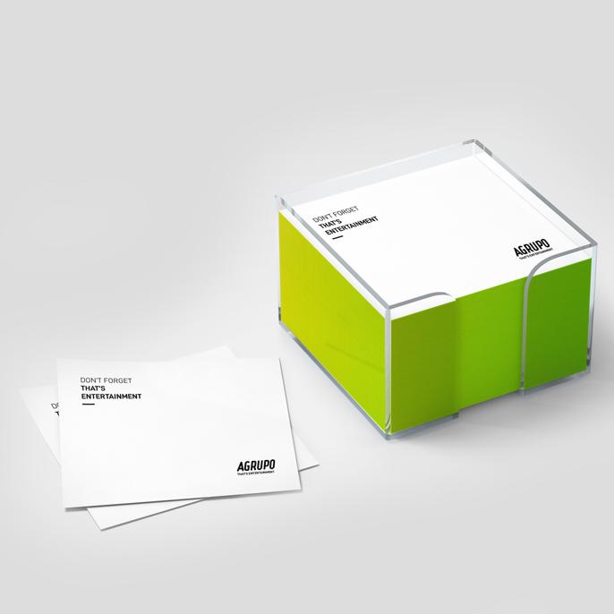 Aplicación de la nueva identidad corporativa a papelería