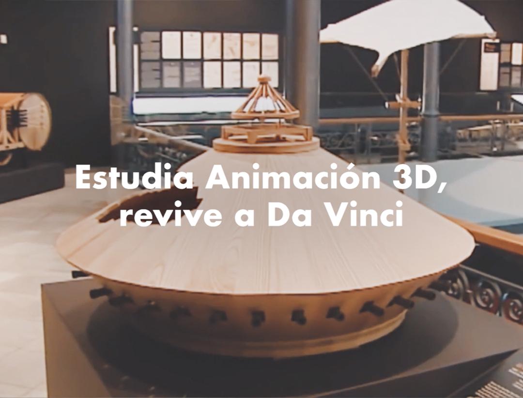 Modelado 3D de una maqueta de Leonardo da Vinci.