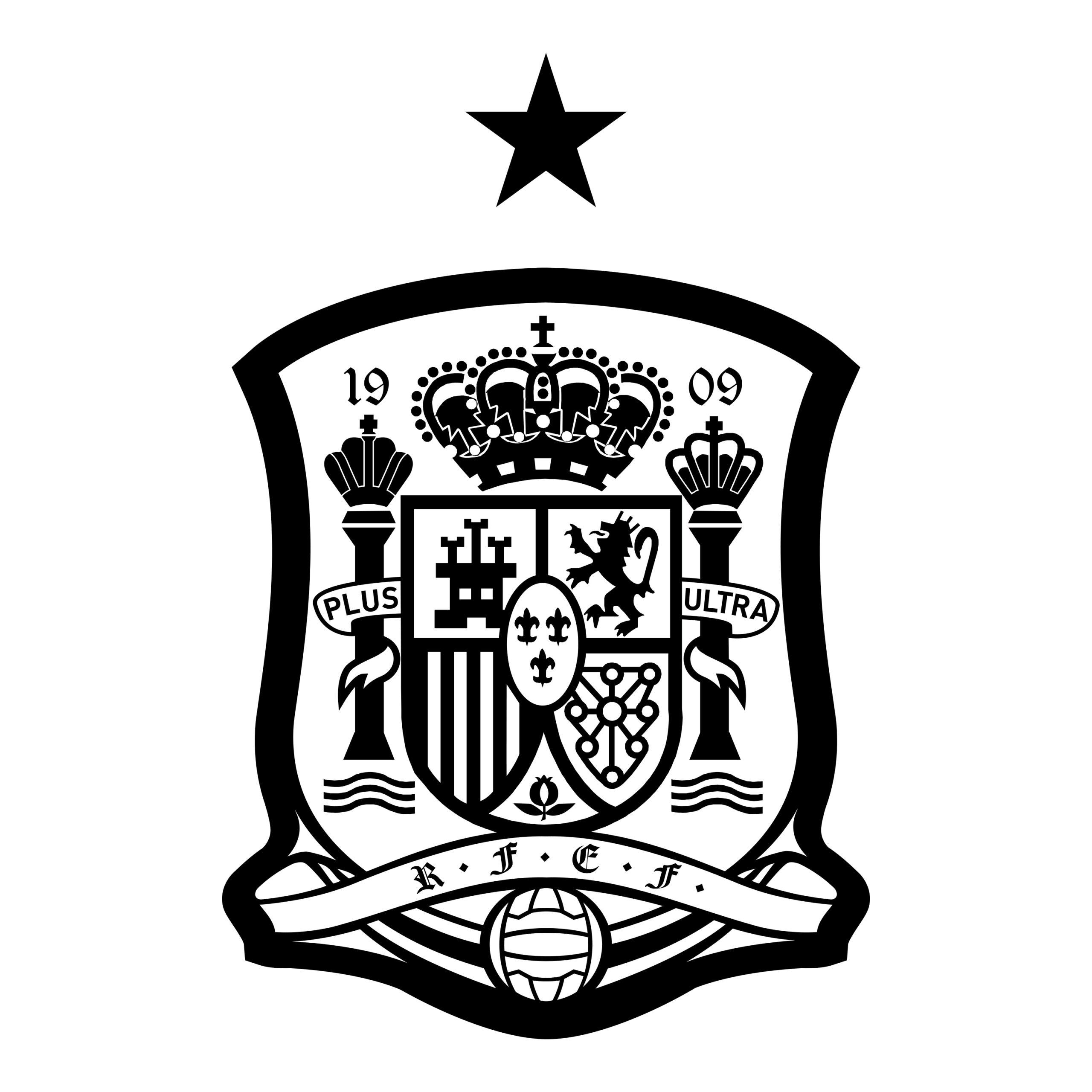 Escudo de la Selección española de futbol.