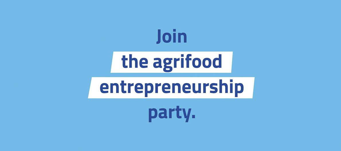 """Texto: """"Joins the agrifood entrepreneurship party"""""""
